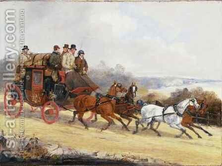 The Dover to London Coach: In Summer by Henry Thomas Alken - Reproduction Oil Painting