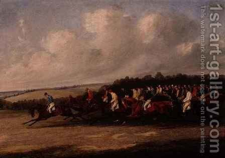 Start of the Derby by Henry Thomas Alken - Reproduction Oil Painting