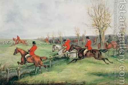 Sporting Scene by Henry Thomas Alken - Reproduction Oil Painting