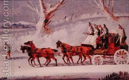 Hull to London Coach by Henry Thomas Alken - Reproduction Oil Painting