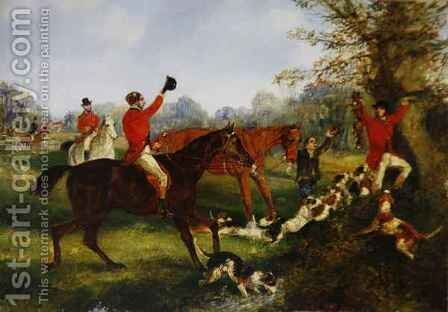 The Finish by Henry Thomas Alken - Reproduction Oil Painting