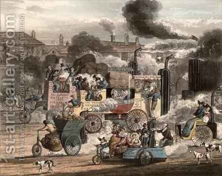 A view of the Whitechapel Road by Henry Thomas Alken - Reproduction Oil Painting