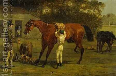 Saddling by Herny Jr Alken - Reproduction Oil Painting