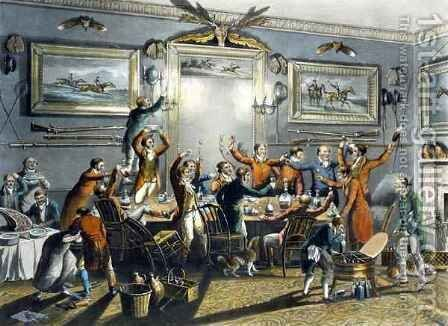 The Toast, from 'Foxhunting' by (after) Henry Alken - Reproduction Oil Painting