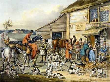 The Refreshment, from 'Foxhunting' by (after) Henry Alken - Reproduction Oil Painting