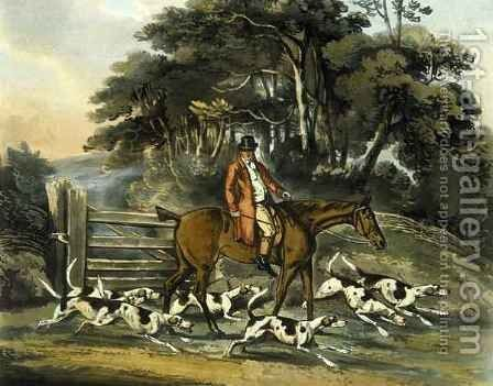 Going Out, from 'Fox Hunting' by (after) Henry Alken - Reproduction Oil Painting