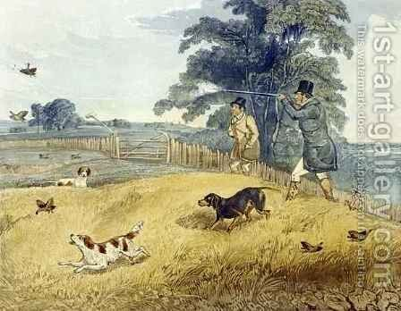 Flushing Birds, plate from 'Partridge Shooting' by (after) Henry Alken - Reproduction Oil Painting