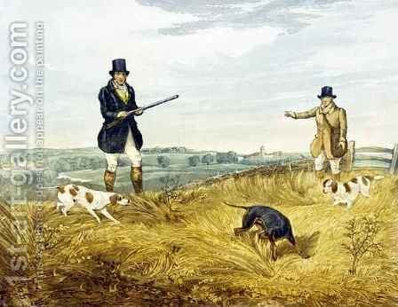 Gun and Loader, plate from 'Partridge Shooting' by (after) Henry Alken - Reproduction Oil Painting