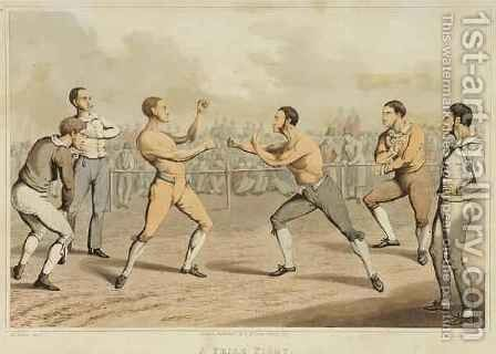 A Prize Fight by (after) Henry Alken - Reproduction Oil Painting