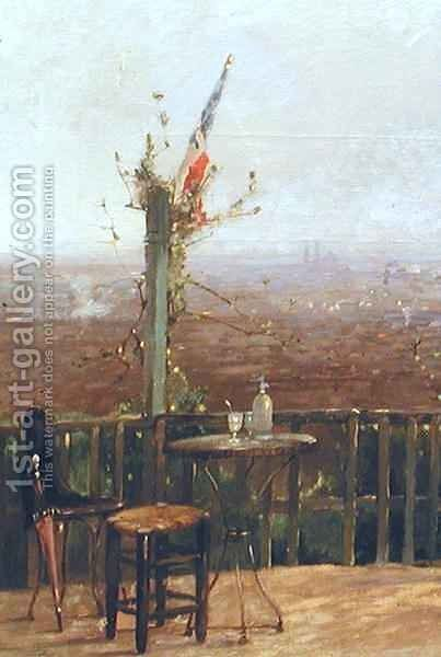 Paris seen from the heights of Montmartre 2 by Jean D'Alheim - Reproduction Oil Painting