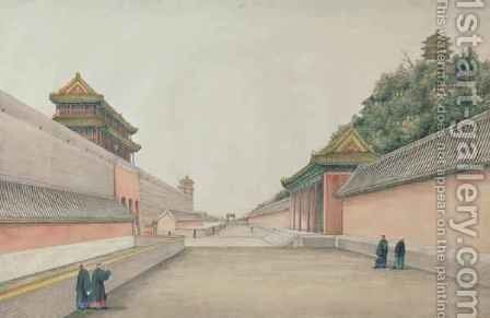 The Imperial Palace in Peking by Ivan Alexandrov - Reproduction Oil Painting