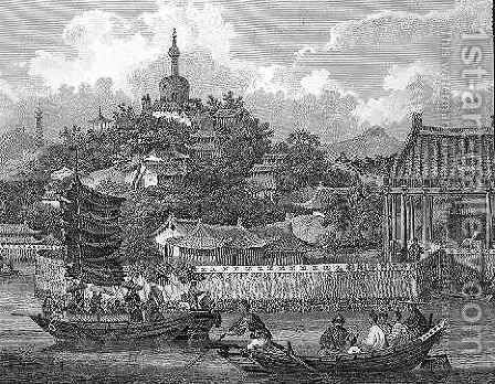 A View of the Gardens of the Imperial Palace, Peking by (after) Alexander, William - Reproduction Oil Painting