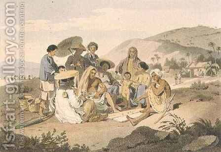 A Group of Cochin Chinese by (after) Alexander, William - Reproduction Oil Painting