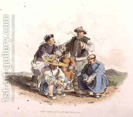 Chinese Gamblers by (after) Alexander, William - Reproduction Oil Painting