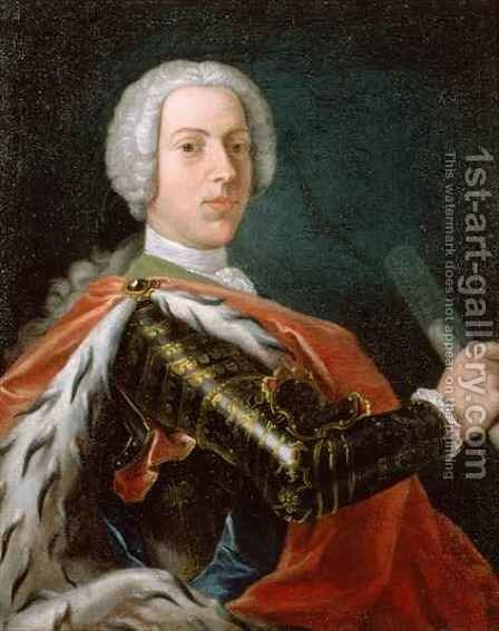 Prince Charles Edward Stuart (1720-88) or 'Bonnie Prince Charlie' by Cosmo Alexander - Reproduction Oil Painting