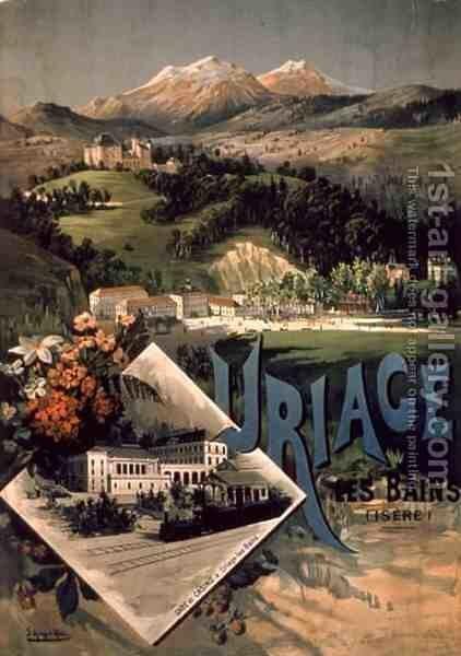 Uriage Les Bains, Isere by Hugo d' Alesi - Reproduction Oil Painting