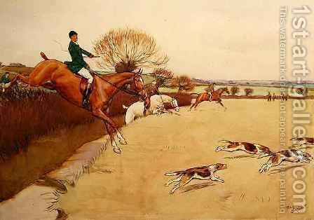 Up and Over by Cecil Charles Aldin - Reproduction Oil Painting
