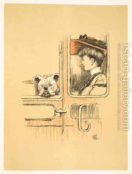 Travelling in First Class, From 'A Gay Dog, Story of a Foolish Year' by Cecil Charles Aldin - Reproduction Oil Painting