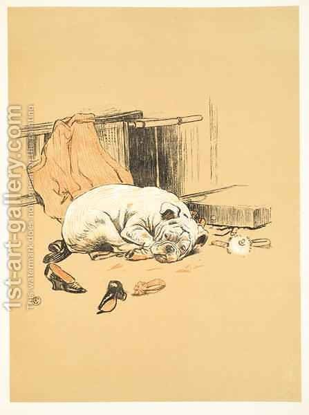 Disappointment at not finding the Chocolates, from 'A Gay Dog, Story of a Foolish Year' by Cecil Charles Aldin - Reproduction Oil Painting