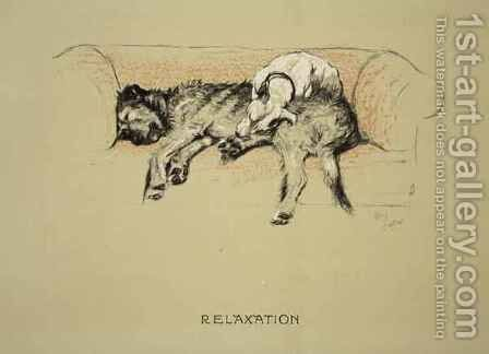 Relaxation by Cecil Charles Aldin - Reproduction Oil Painting