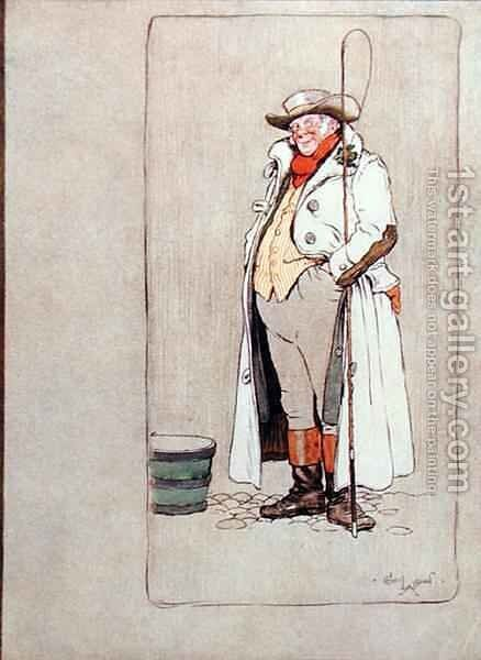 The Stage Coachman by Cecil Charles Aldin - Reproduction Oil Painting