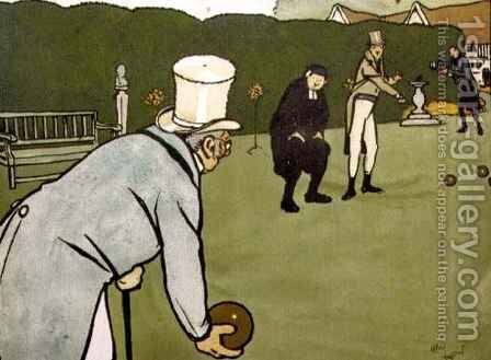 Old English Sports and Pastimes Bowls by Cecil Charles Aldin - Reproduction Oil Painting