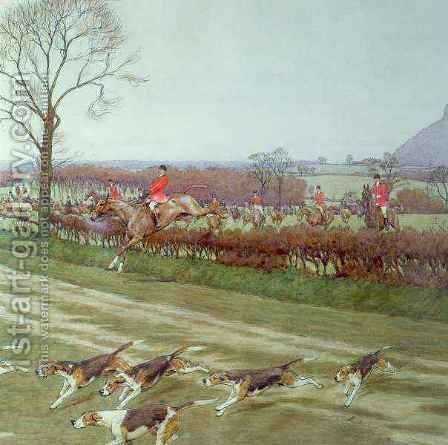 The Cheshire - away from Tattenhall by Cecil Charles Aldin - Reproduction Oil Painting