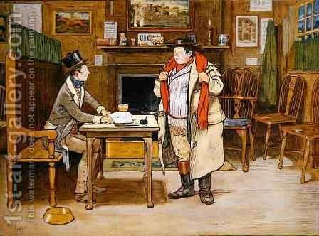 The Two Wellers at the Blue Boar 2 by Cecil Charles Aldin - Reproduction Oil Painting