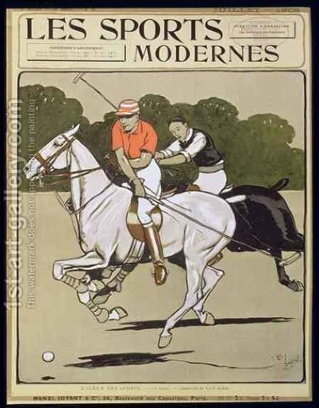 Polo, front cover of 'Les Sports Modernes' Magazine by (after) Aldin, Cecil - Reproduction Oil Painting