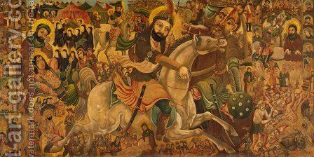Battle of Karbala by Abbas Al-Musavi - Reproduction Oil Painting