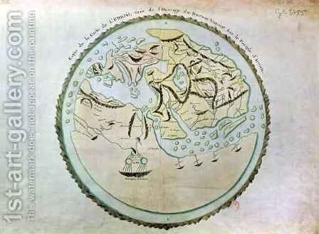 Map of the world by (after) Al-Idrisi or Edrisi, Abu Muhammad - Reproduction Oil Painting