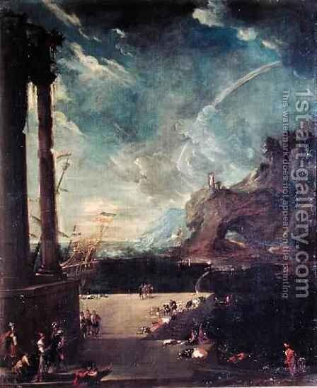 The Departure of Aeneas from Carthage by Benito-Manuel de Aguero - Reproduction Oil Painting