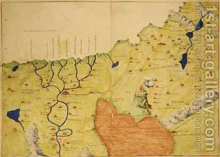 The Middle East, from an Atlas of the World in 33 Maps, Venice by Christoph Ludwig Agricola - Reproduction Oil Painting
