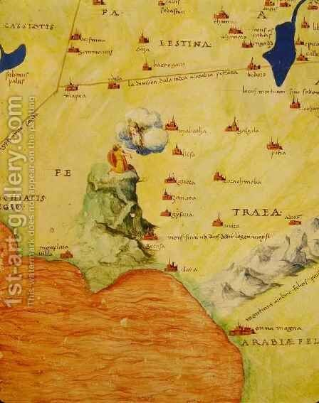 Mount Sinai and the Red Sea, from an Atlas of the World in 33 Maps, Venice by Christoph Ludwig Agricola - Reproduction Oil Painting