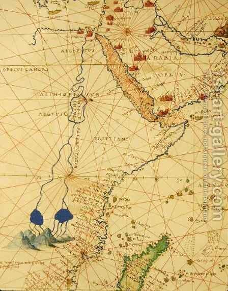 Part of Africa, from an Atlas of the World in 33 Maps, Venice by Christoph Ludwig Agricola - Reproduction Oil Painting