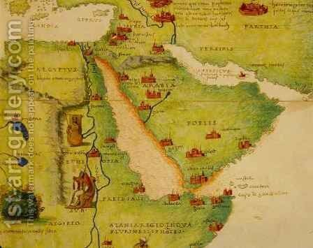 Ethiopia, the Red Sea and Saudi Arabia, from an Atlas of the World in 33 Maps, Venice by Christoph Ludwig Agricola - Reproduction Oil Painting