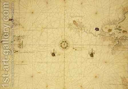 The Pacific Ocean, from an Atlas of the World in 33 Maps, Venice by Christoph Ludwig Agricola - Reproduction Oil Painting