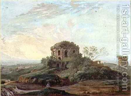 Temple of Tosse, Tivoli by Agostino Aglio - Reproduction Oil Painting
