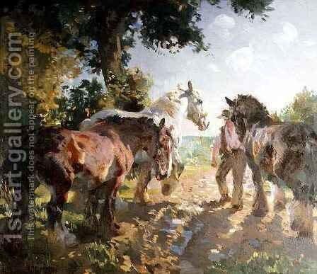 Going to Pasture by Dorothy Adamson - Reproduction Oil Painting