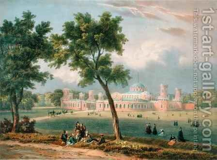 The Peter the Great Palace in Moscow by (after) Adam, V. - Reproduction Oil Painting