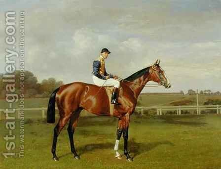 'Spearmint', Winner of the 1906 Derby by Emil Adam - Reproduction Oil Painting