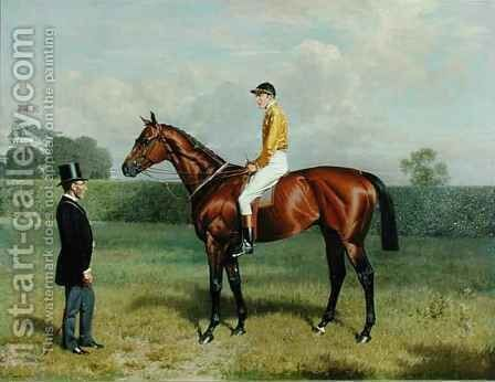 'Ormonde', Winner of the 1886 Derby by Emil Adam - Reproduction Oil Painting