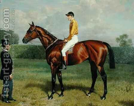 'Ormonde', Winner of the 1886 Derby 2 by Emil Adam - Reproduction Oil Painting