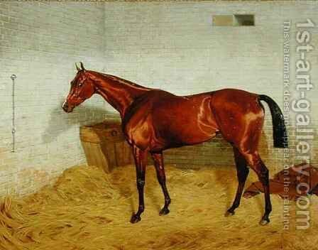 'Lonely', Winner of the 1885 Derby 2 by Emil Adam - Reproduction Oil Painting