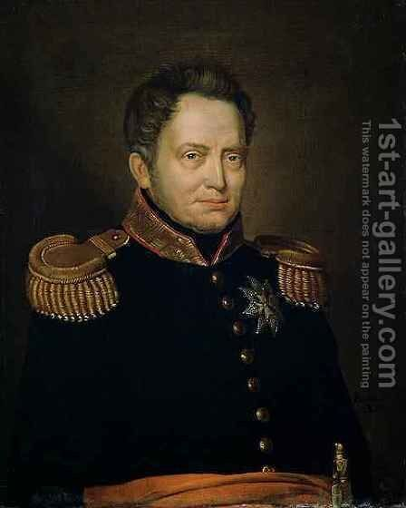 Portrait of Willem Frederik (1772-1843) Prince of Orange by Charles Louis Acar - Reproduction Oil Painting