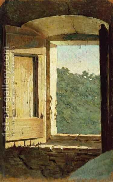 The Window by Giuseppe Abbati - Reproduction Oil Painting
