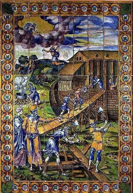 The Story of Noah the Building of the Ark, Rouen by Masseot Abaquesne - Reproduction Oil Painting