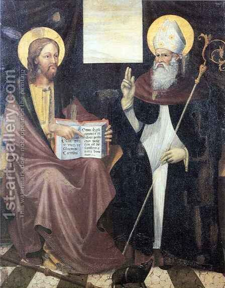 St Anthony the Abbot by Antonio di Guido da Ferrara Alberti - Reproduction Oil Painting