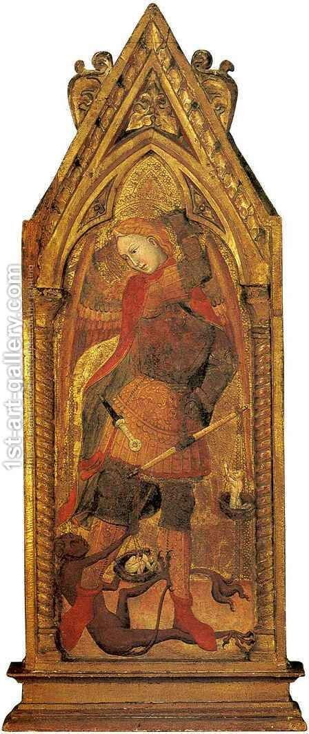 Saint Michael by Andrea di Bologna - Reproduction Oil Painting