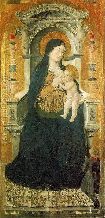 Madonna del Latte by Antoniazzo Romano - Reproduction Oil Painting
